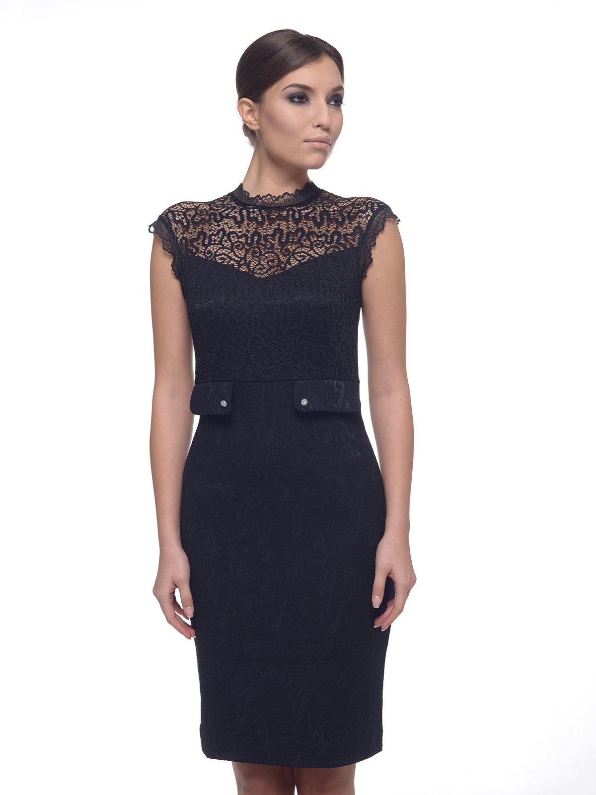 Платье черное в узор | 1633404