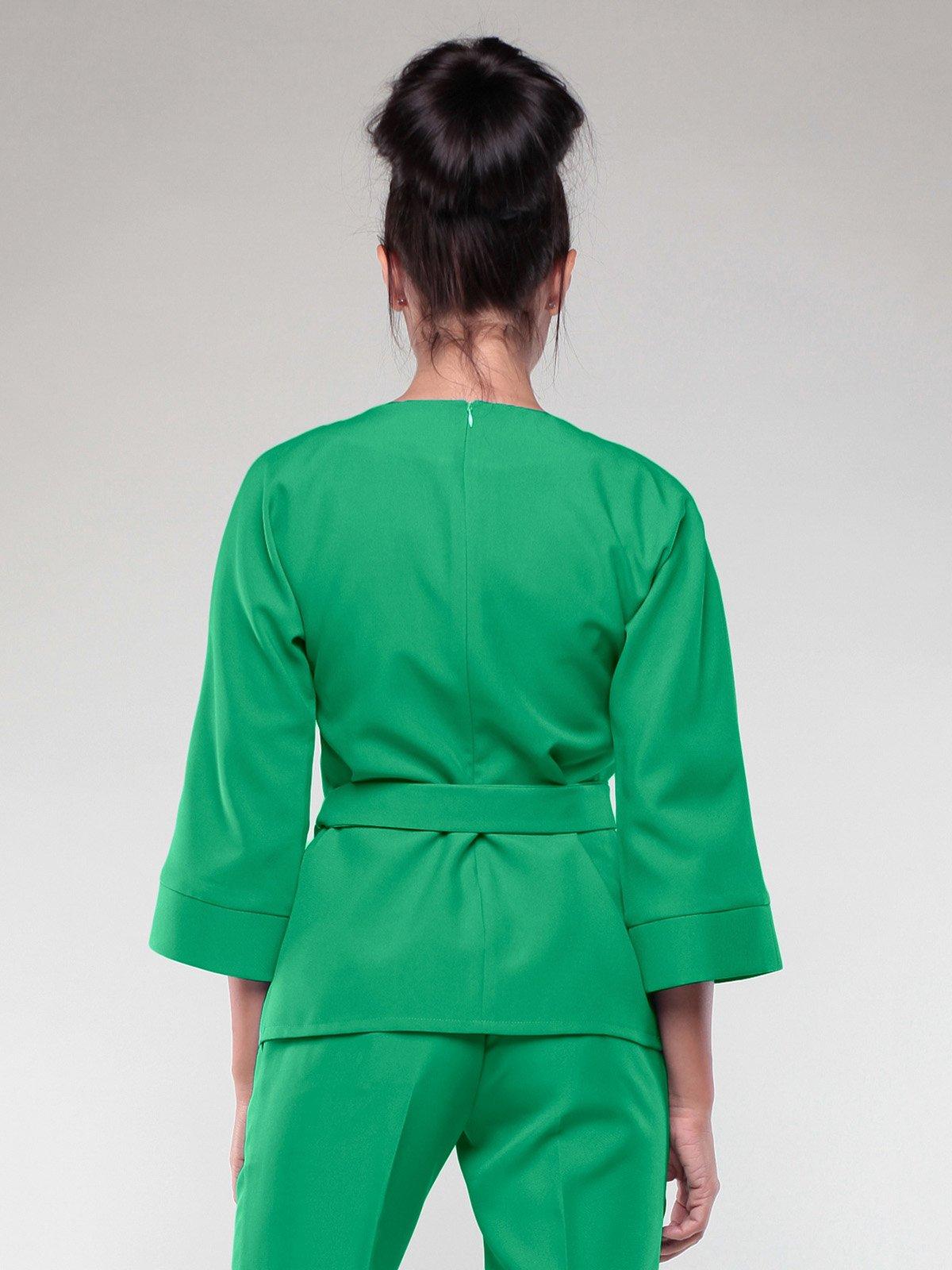 Блуза изумрудного цвета | 2005594 | фото 2