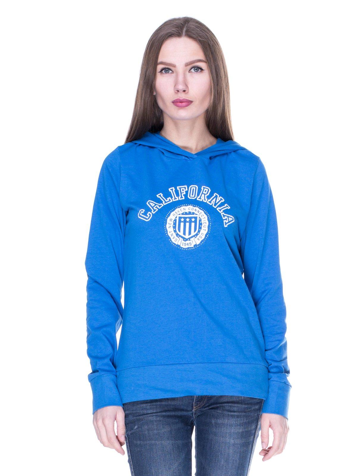 Худі блакитна з принтом | 1911832