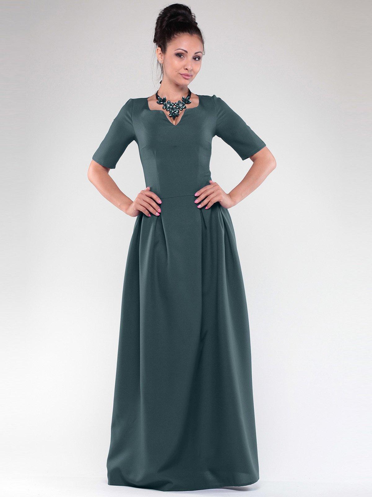 Платье темно-изумрудное   2024117