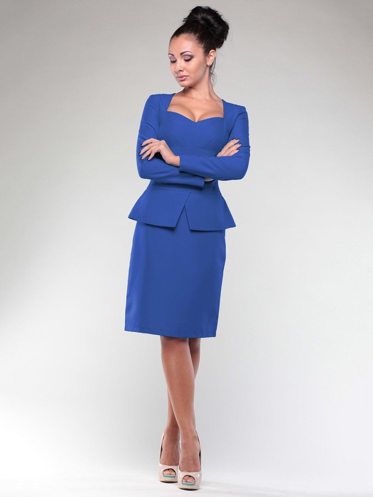 Платье цвета электрик   2024077