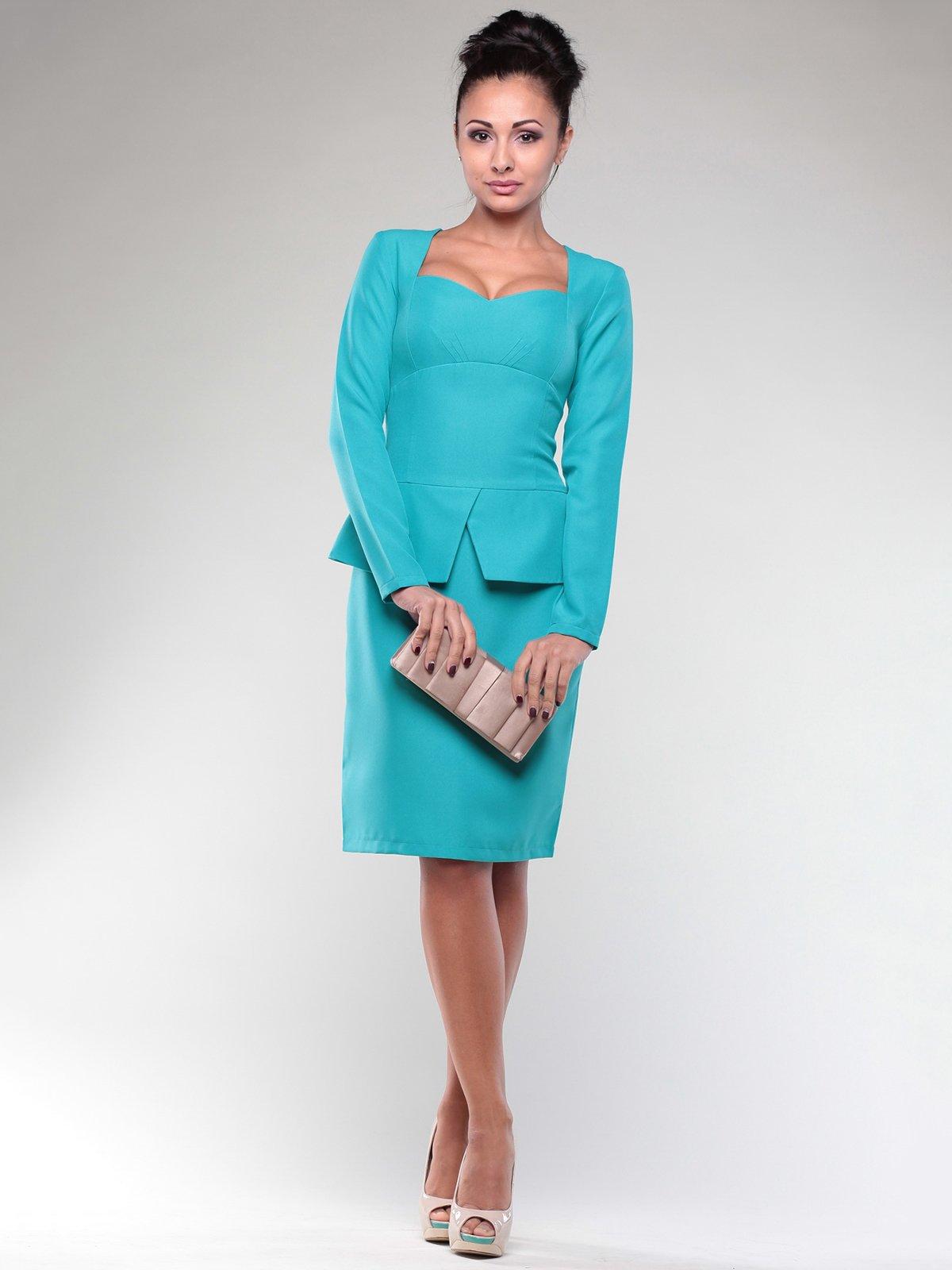 Платье светло-ментолового цвета | 2024082