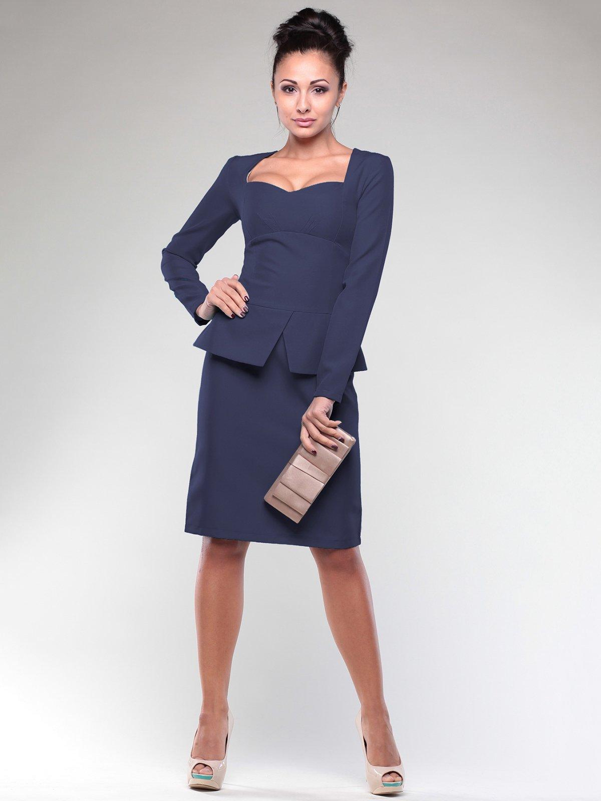 Платье темно-синее | 2024083