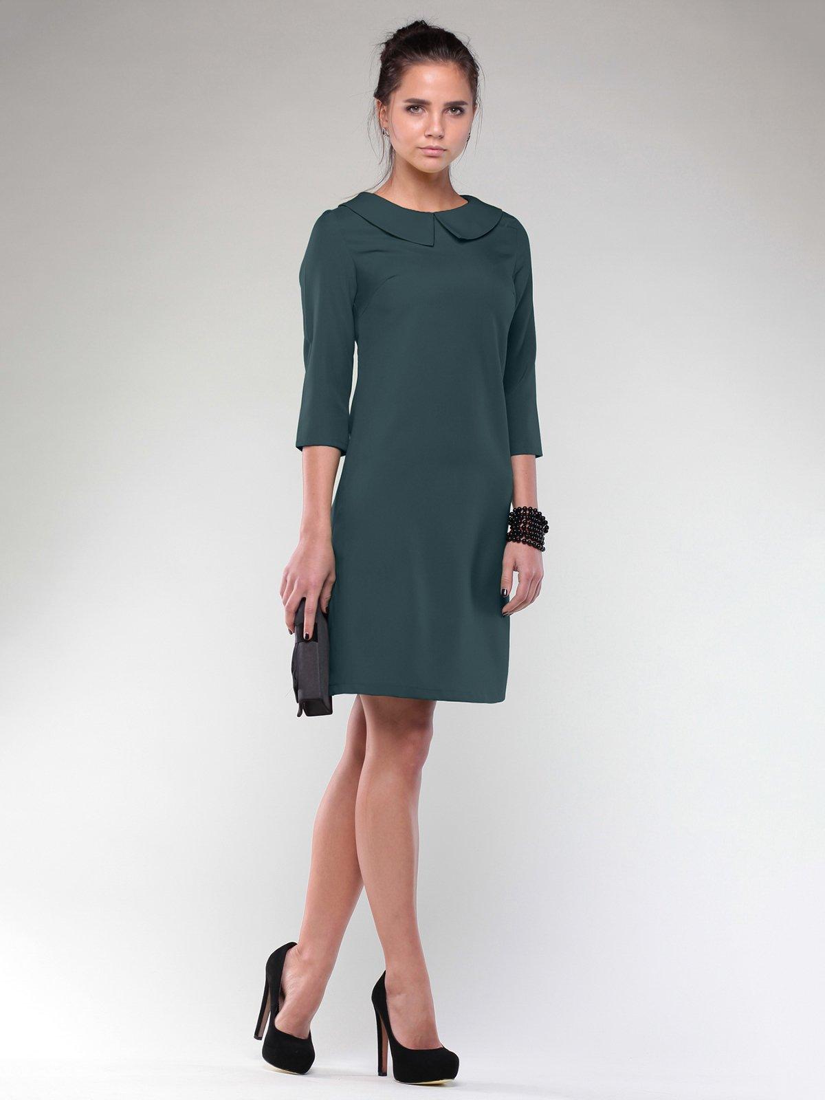 Сукня темно-смарагдового кольору | 2024088