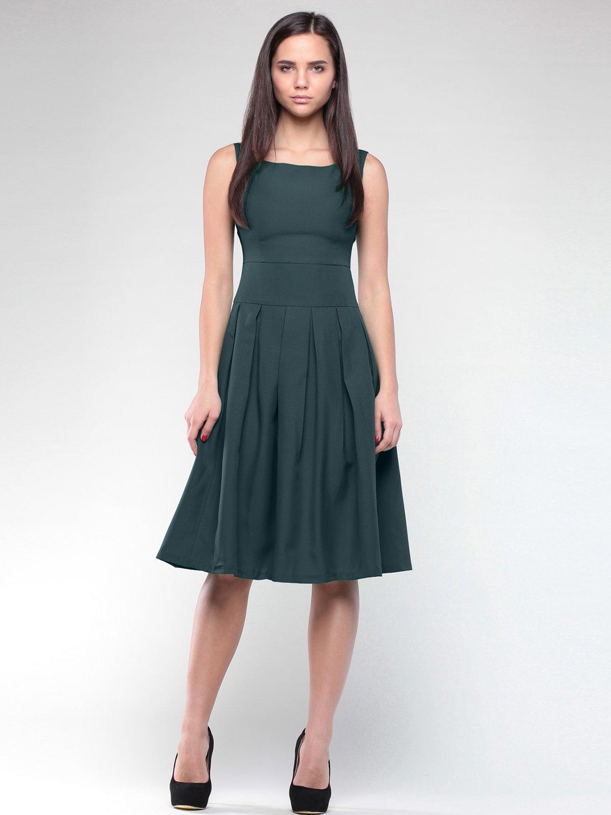 Платье-сарафан темно-изумрудного цвета   2025294