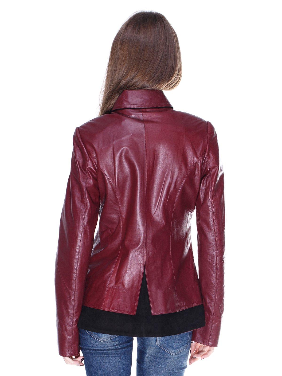 Куртка чорно-бордова комбінована | 1830311 | фото 2