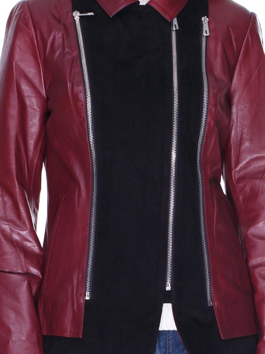 Куртка чорно-бордова комбінована | 1830311 | фото 3
