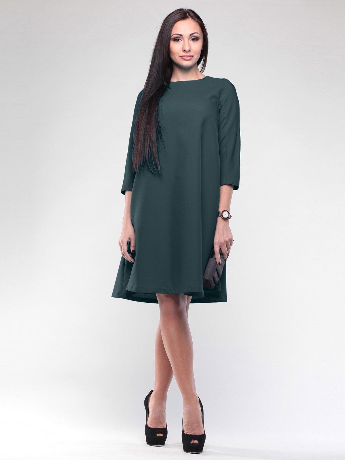Платье темно-изумрудное | 2056830