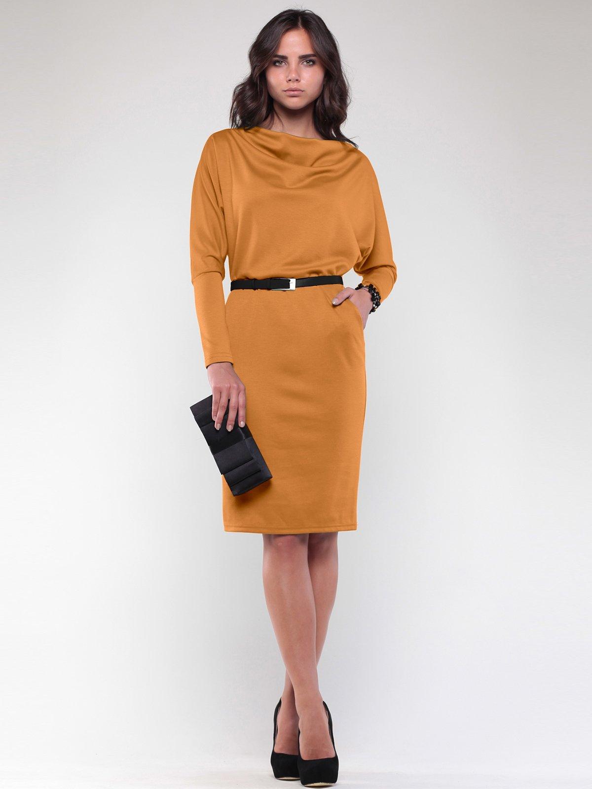 Сукня кольору гірчиці | 2056873
