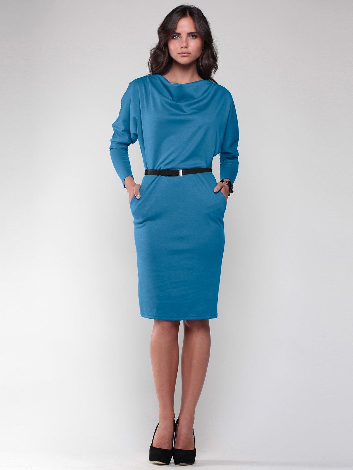 Платье темно-бирюзовое   2056886