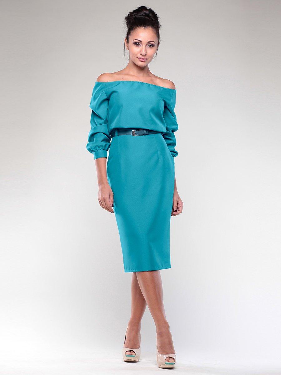 Платье бирюзовая | 2056923