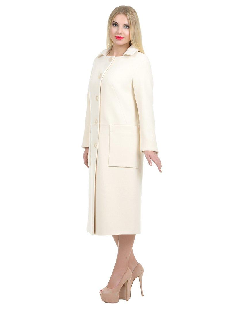 Пальто молочного цвета | 1907221 | фото 2