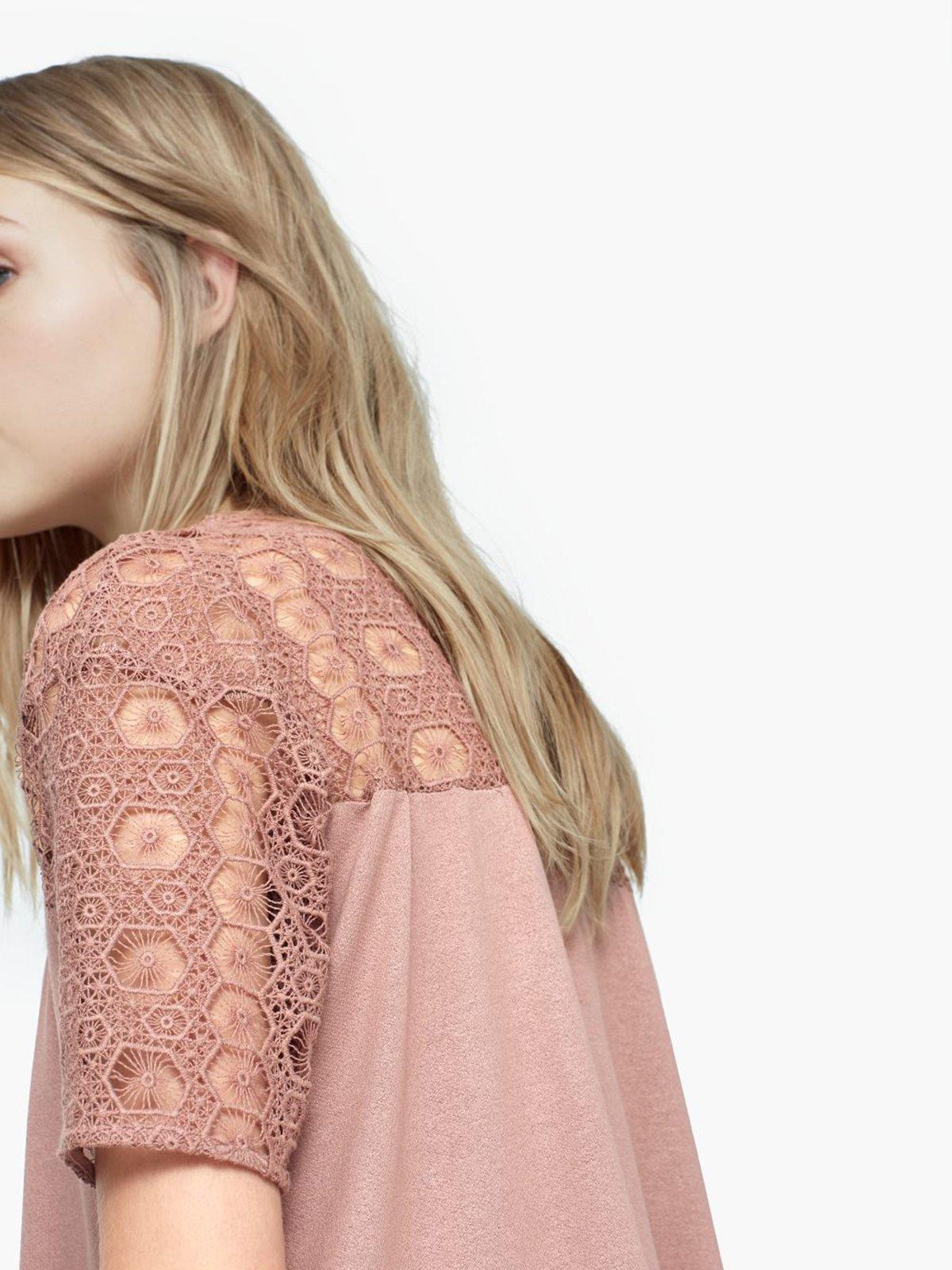 Блуза розовая | 1944804 | фото 4