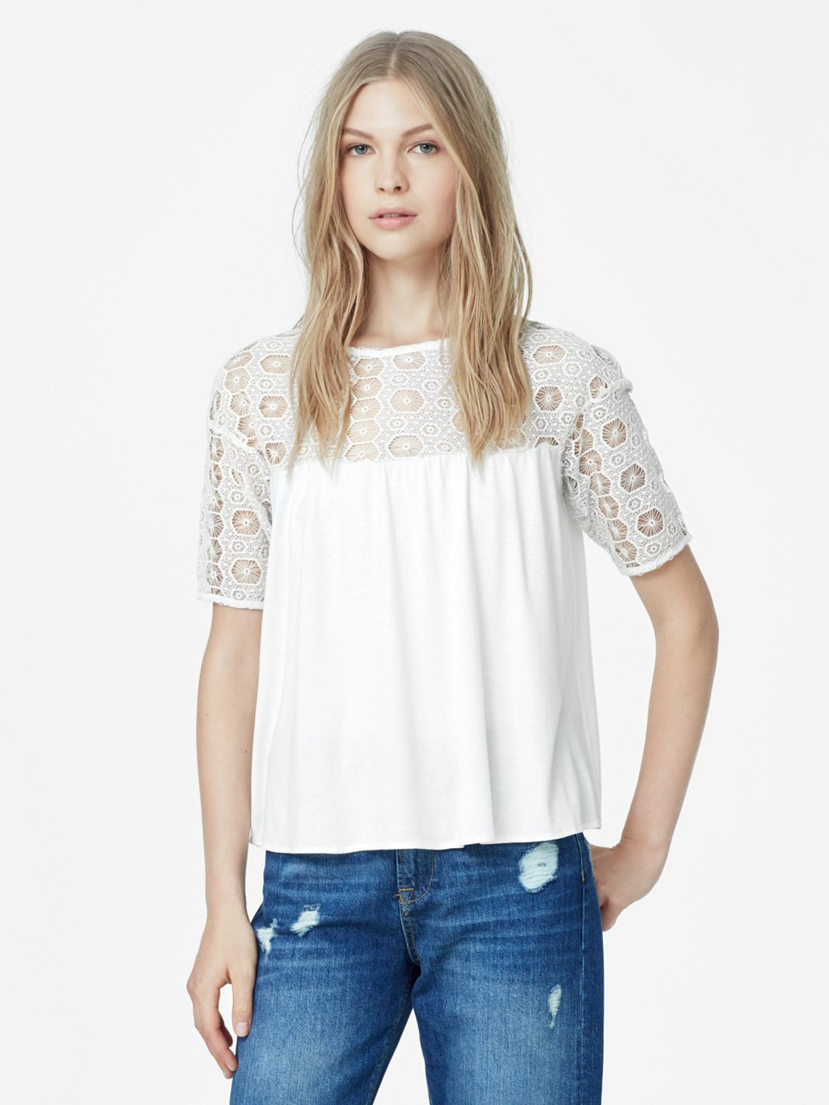 Блуза светло-молочная | 2065867 | фото 2