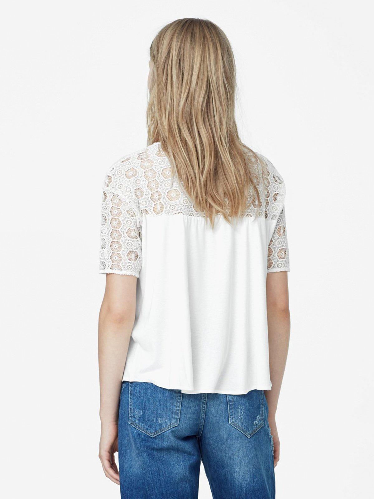 Блуза светло-молочная | 2065867 | фото 3