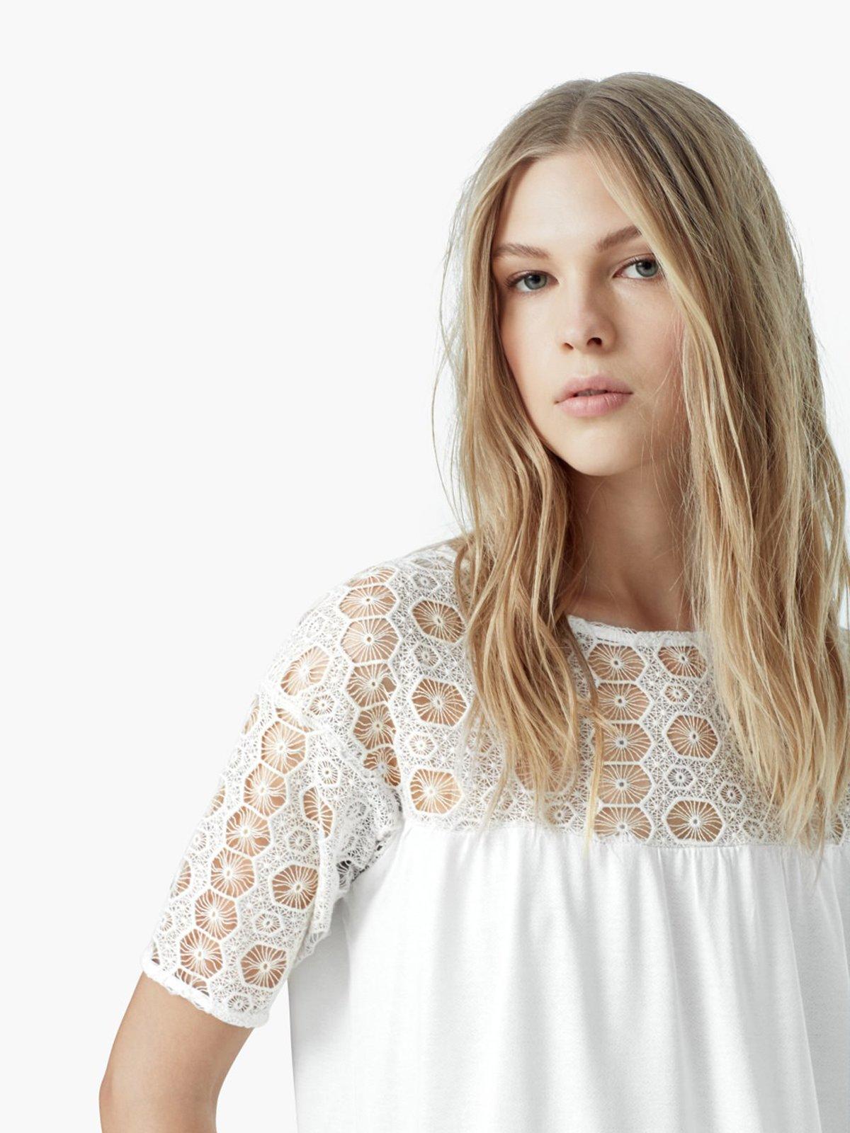 Блуза светло-молочная | 2065867 | фото 4