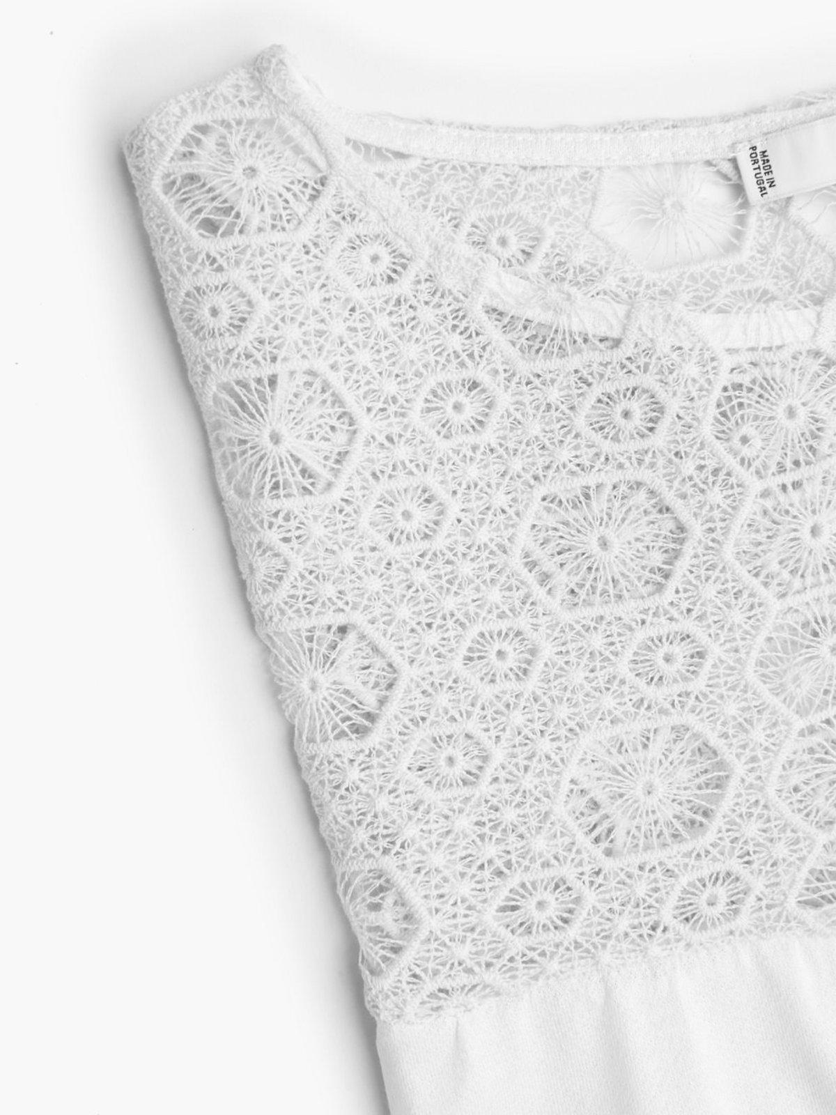 Блуза светло-молочная | 2065867 | фото 5
