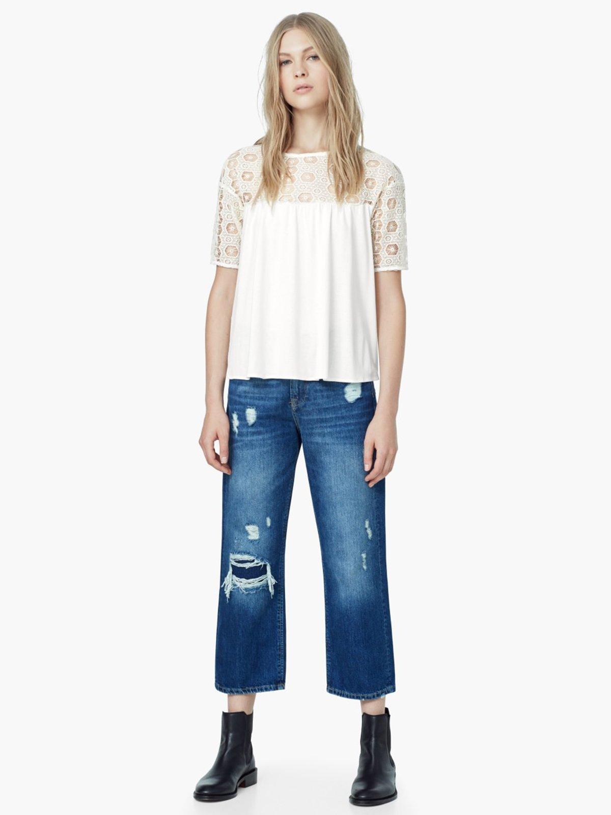 Блуза светло-молочная | 2065867 | фото 6