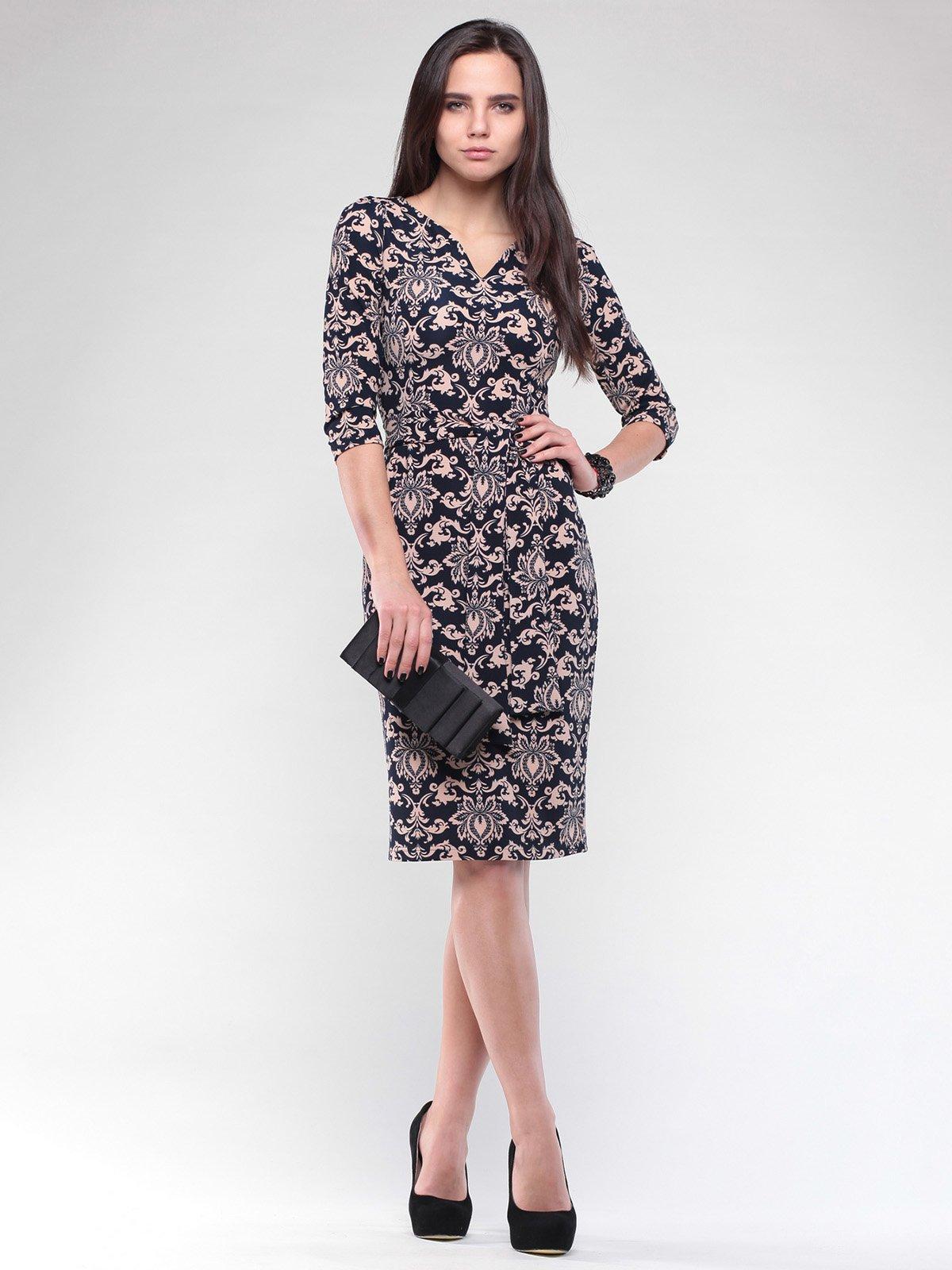 Сукня чорна в принт | 2067876