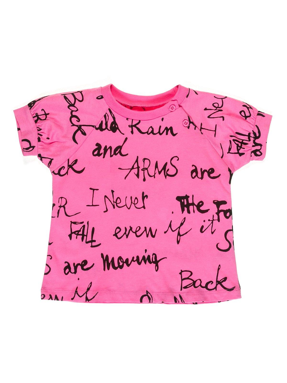 Футболка рожева в написи — Gloria Jeans 9d4db406c6ab4