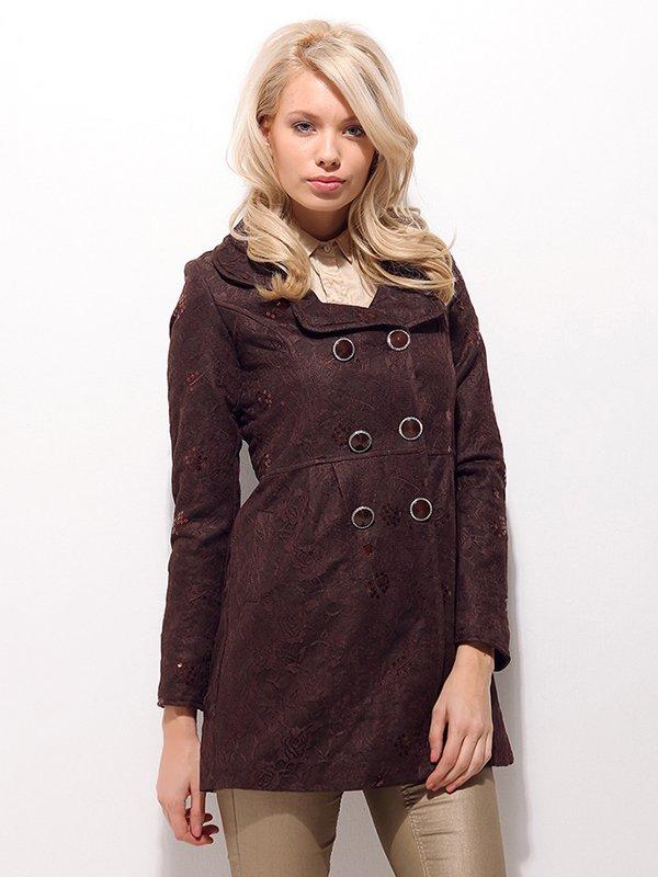 Пальто коричневое | 2073691
