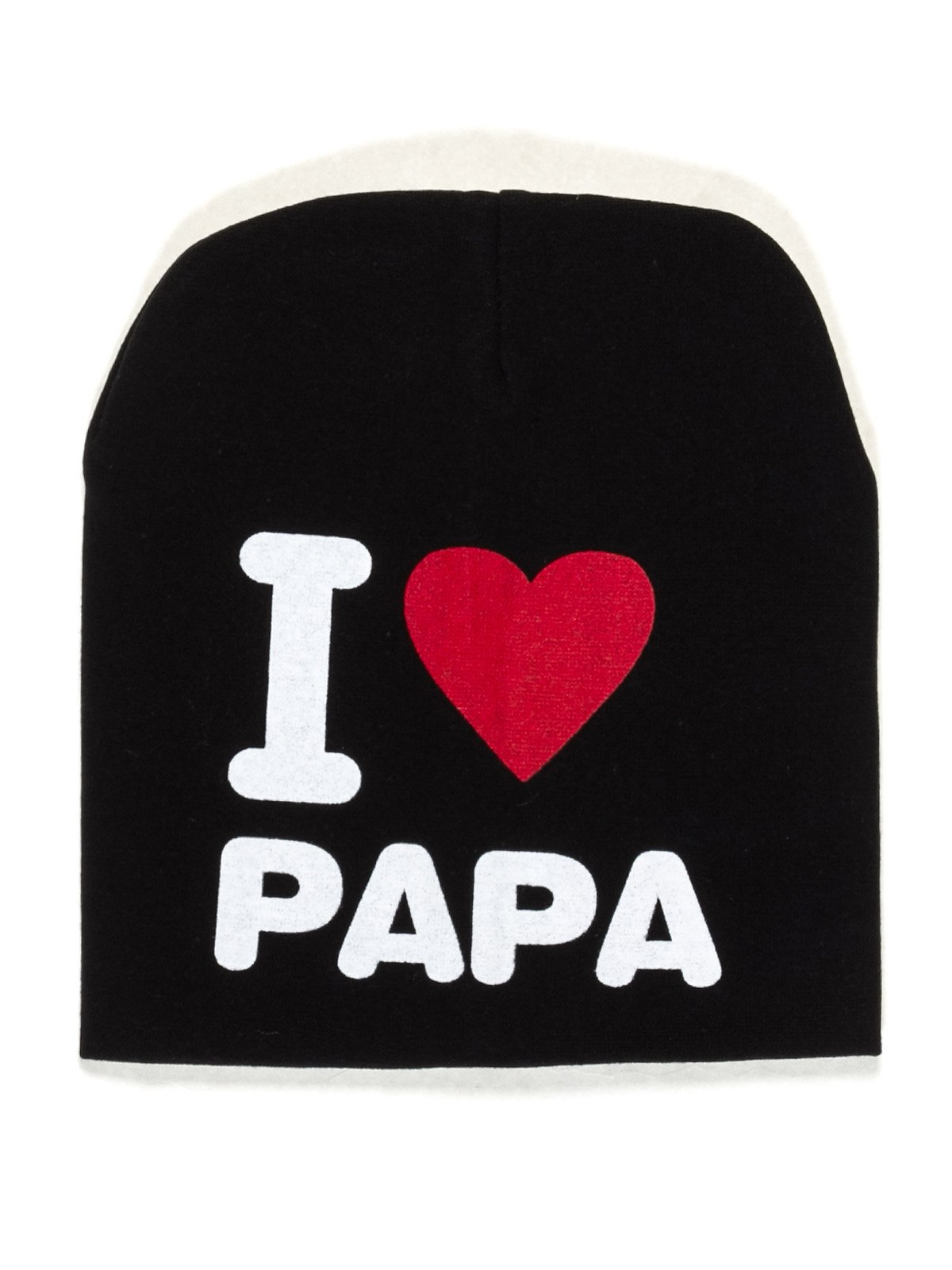 Шапка черная I love papa   2073969