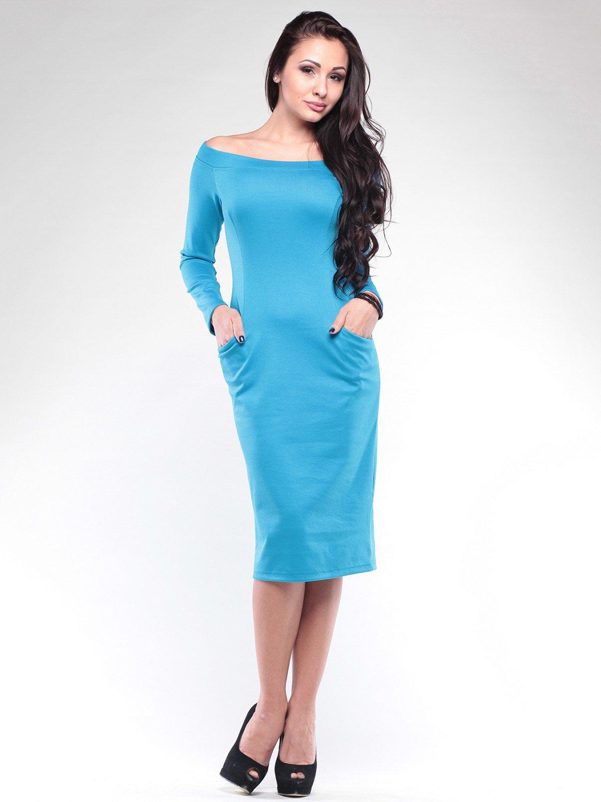 Платье бирюзовое | 2076013