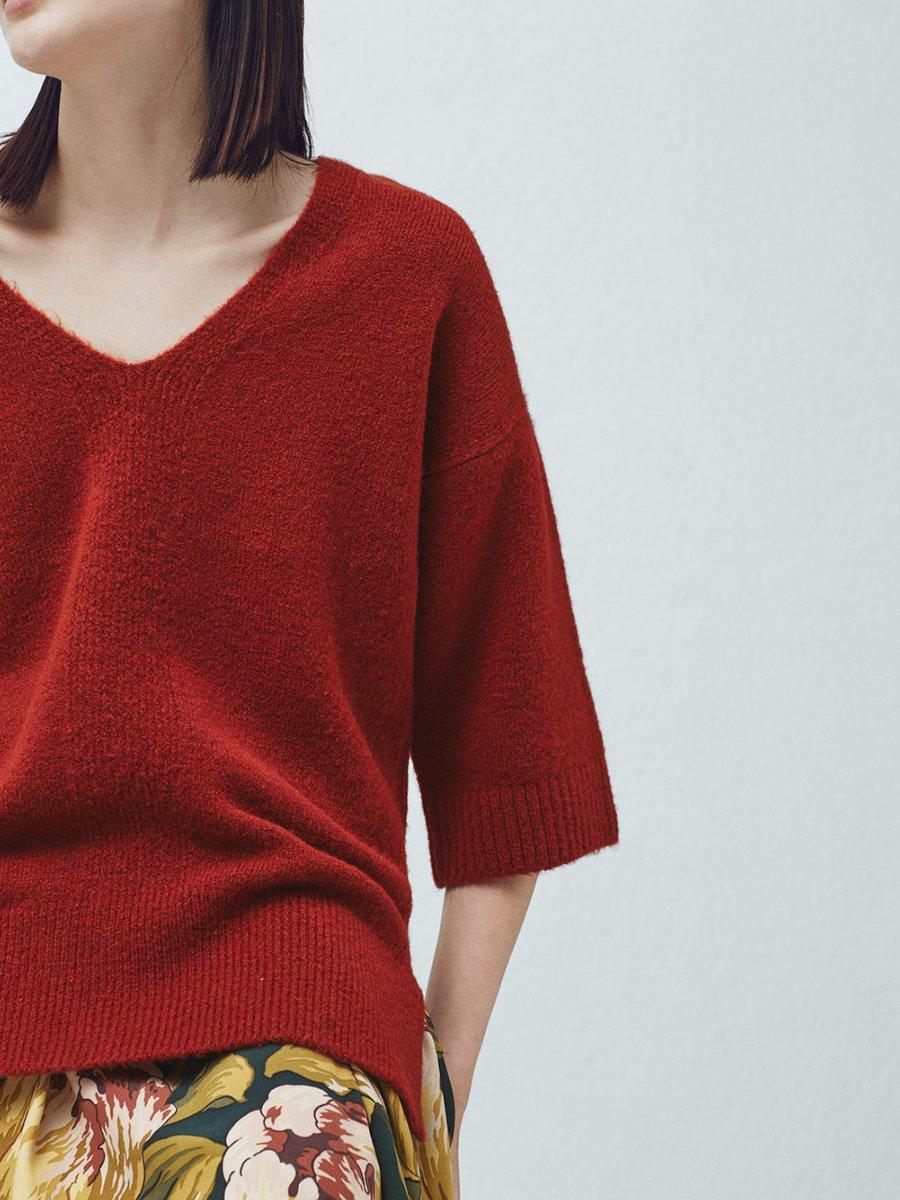 Пуловер терракотовый | 2076692 | фото 5
