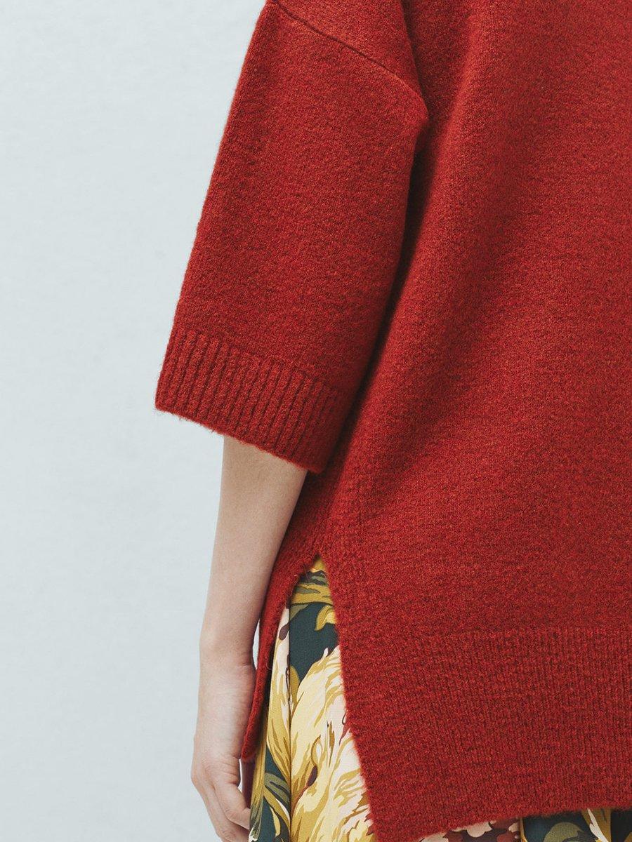 Пуловер терракотовый | 2076692 | фото 7