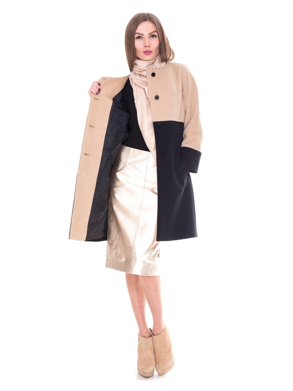 Пальто двухцветное | 2083579 | фото 2