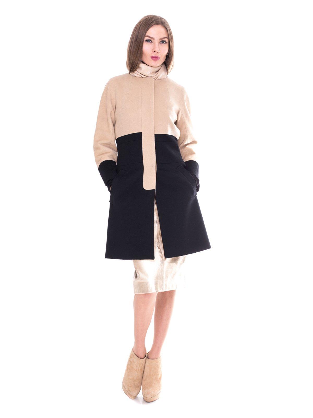 Пальто двухцветное | 2083579