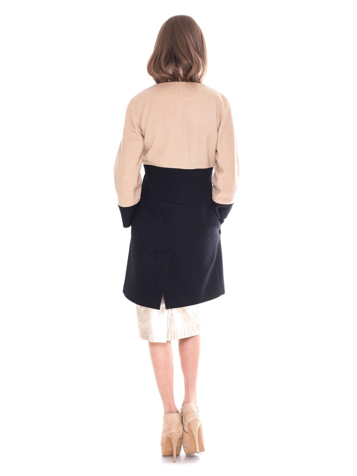 Пальто двухцветное | 2083579 | фото 3