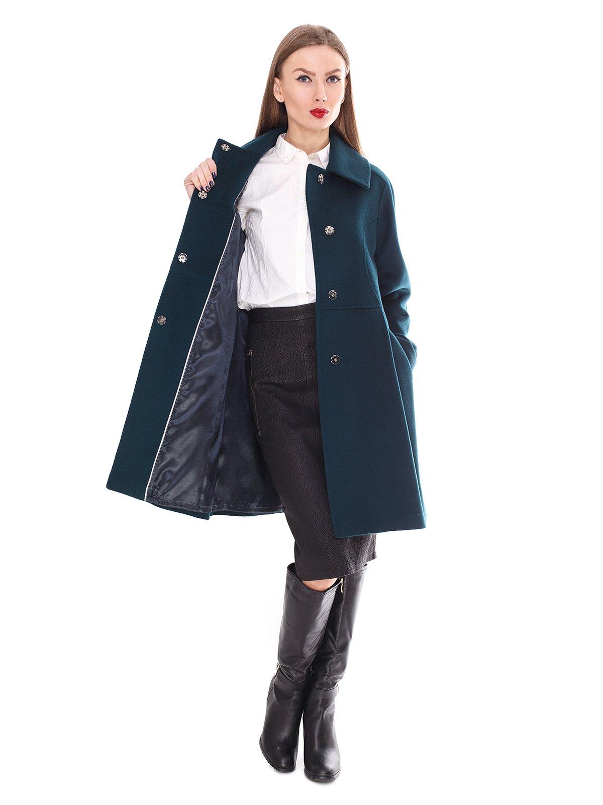 Пальто зеленое | 2083638 | фото 2