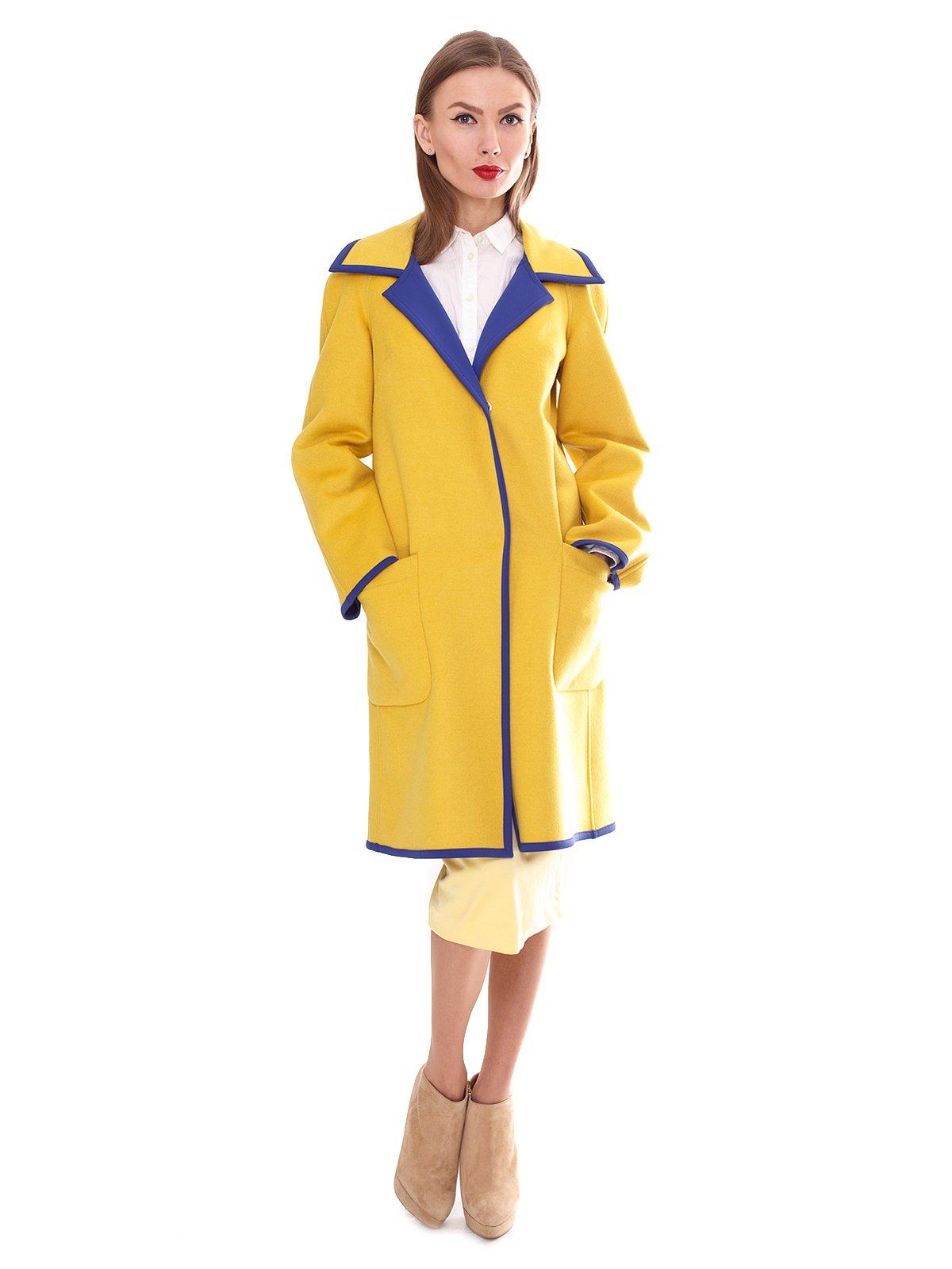 Пальто двухстороннее желтое | 2083657