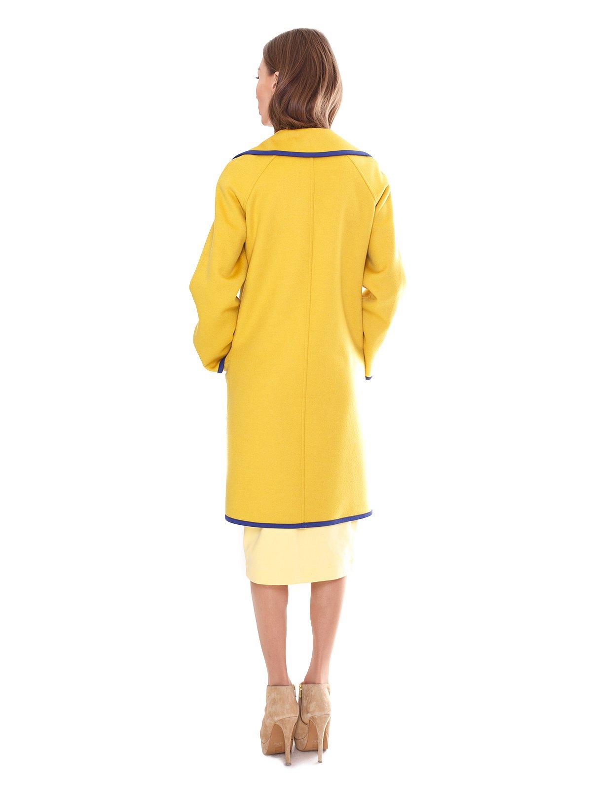 Пальто двухстороннее желтое | 2083657 | фото 2