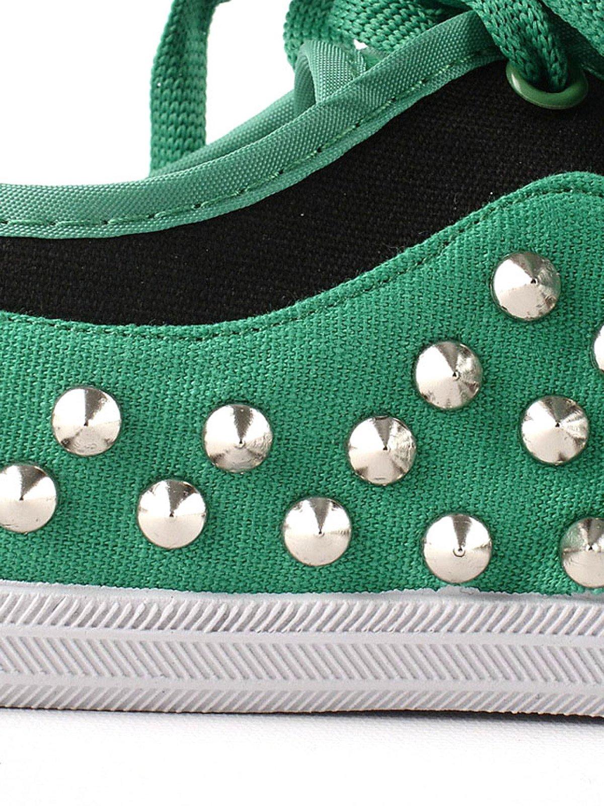 Кеды зеленые с декором | 2086185 | фото 3