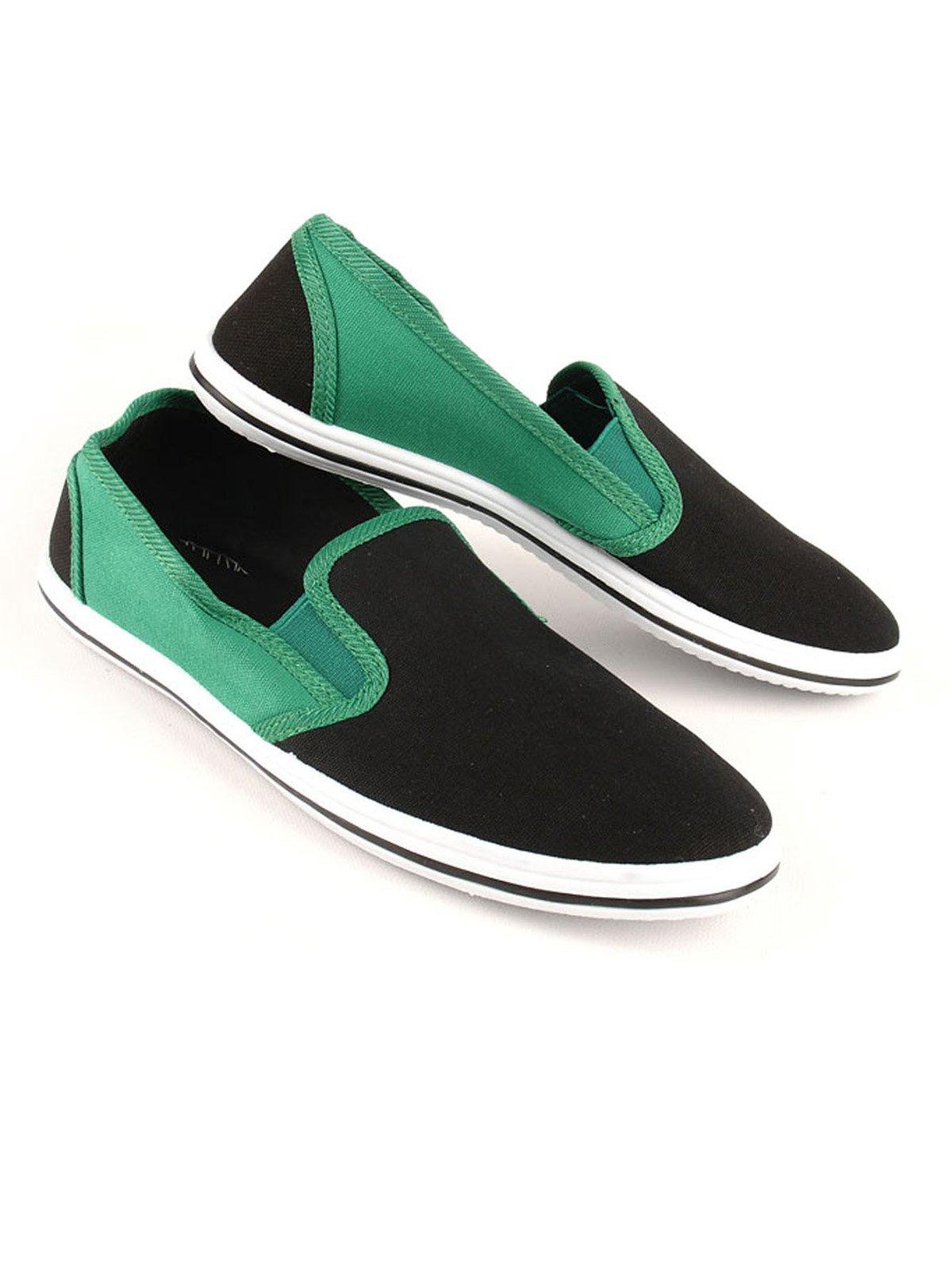 Слипоны черно-зеленые | 2086361