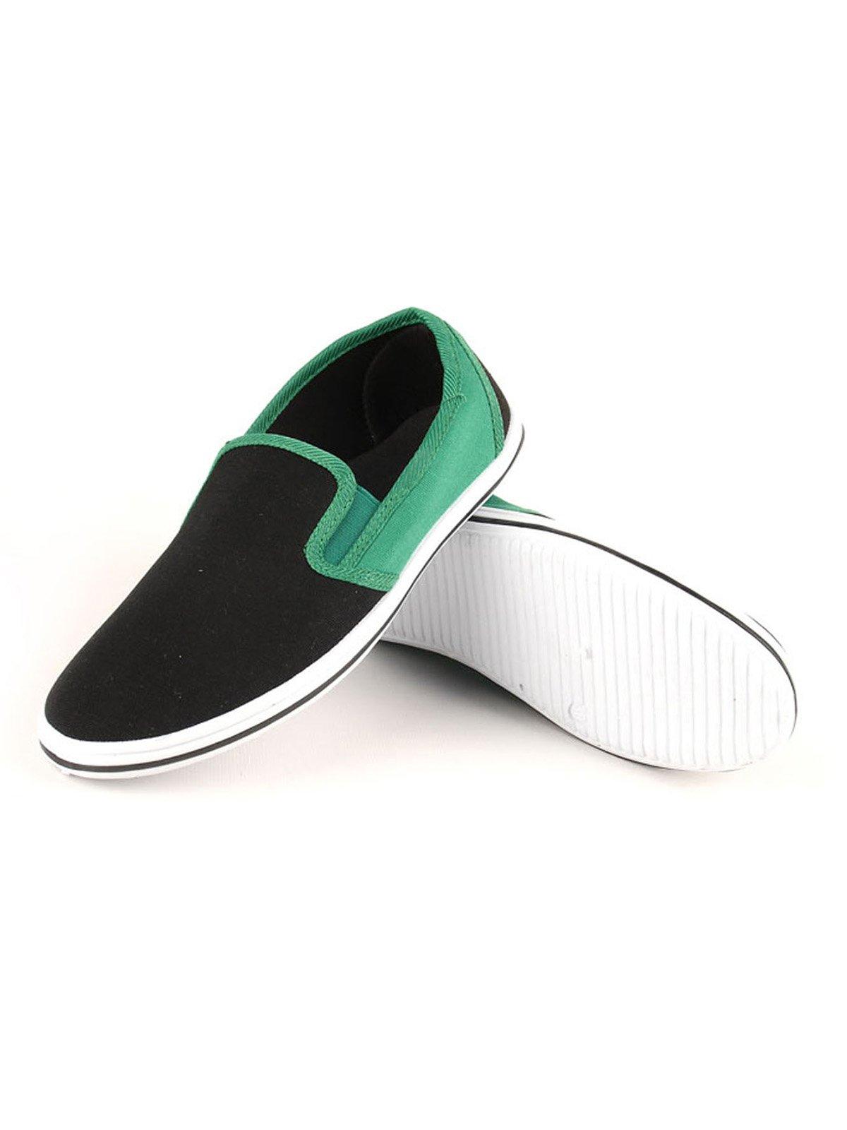 Слипоны черно-зеленые | 2086361 | фото 2