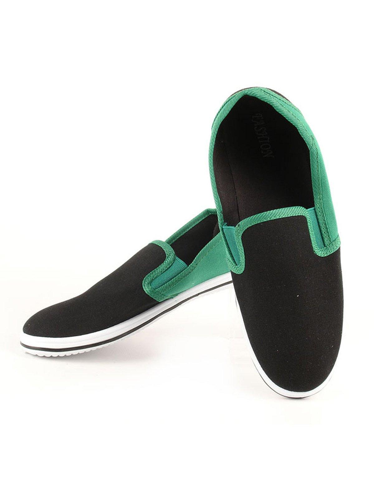 Слипоны черно-зеленые | 2086361 | фото 3
