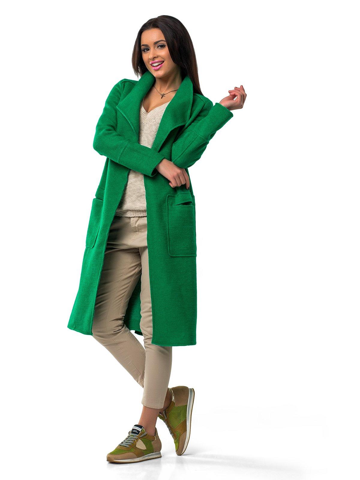 Пальто зеленое | 1962159 | фото 2