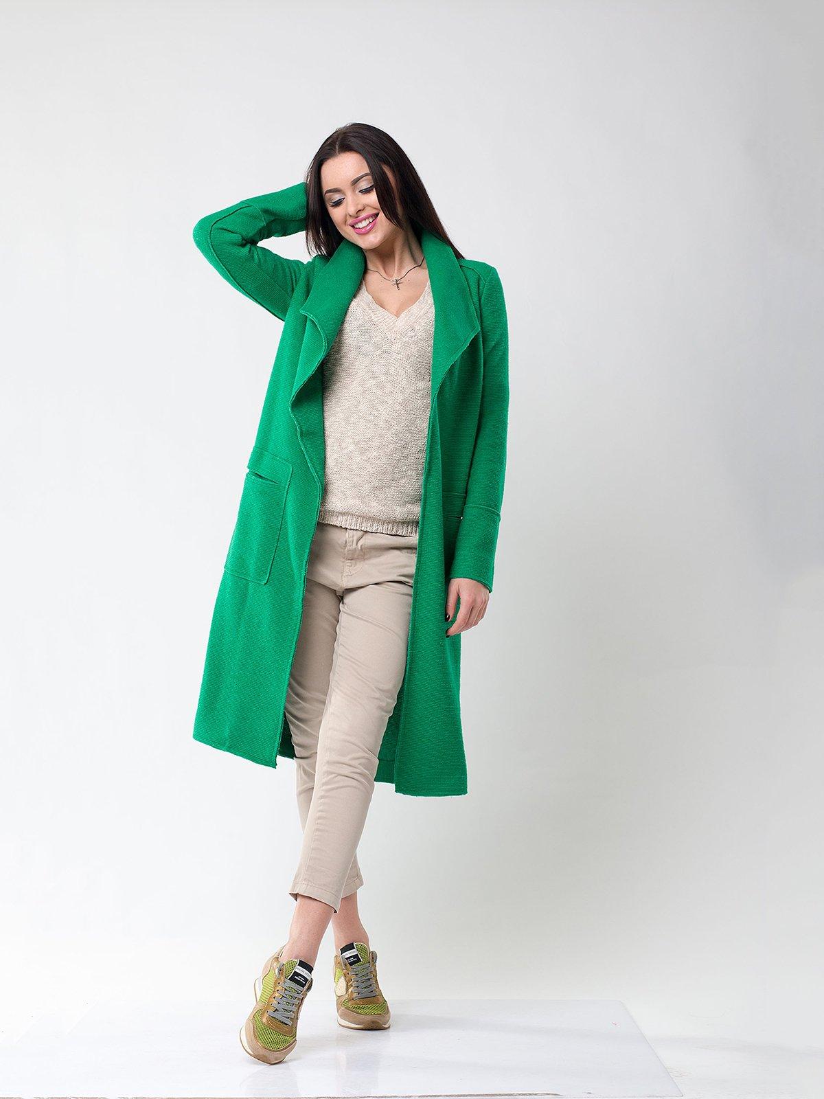Пальто зеленое | 1962159 | фото 3