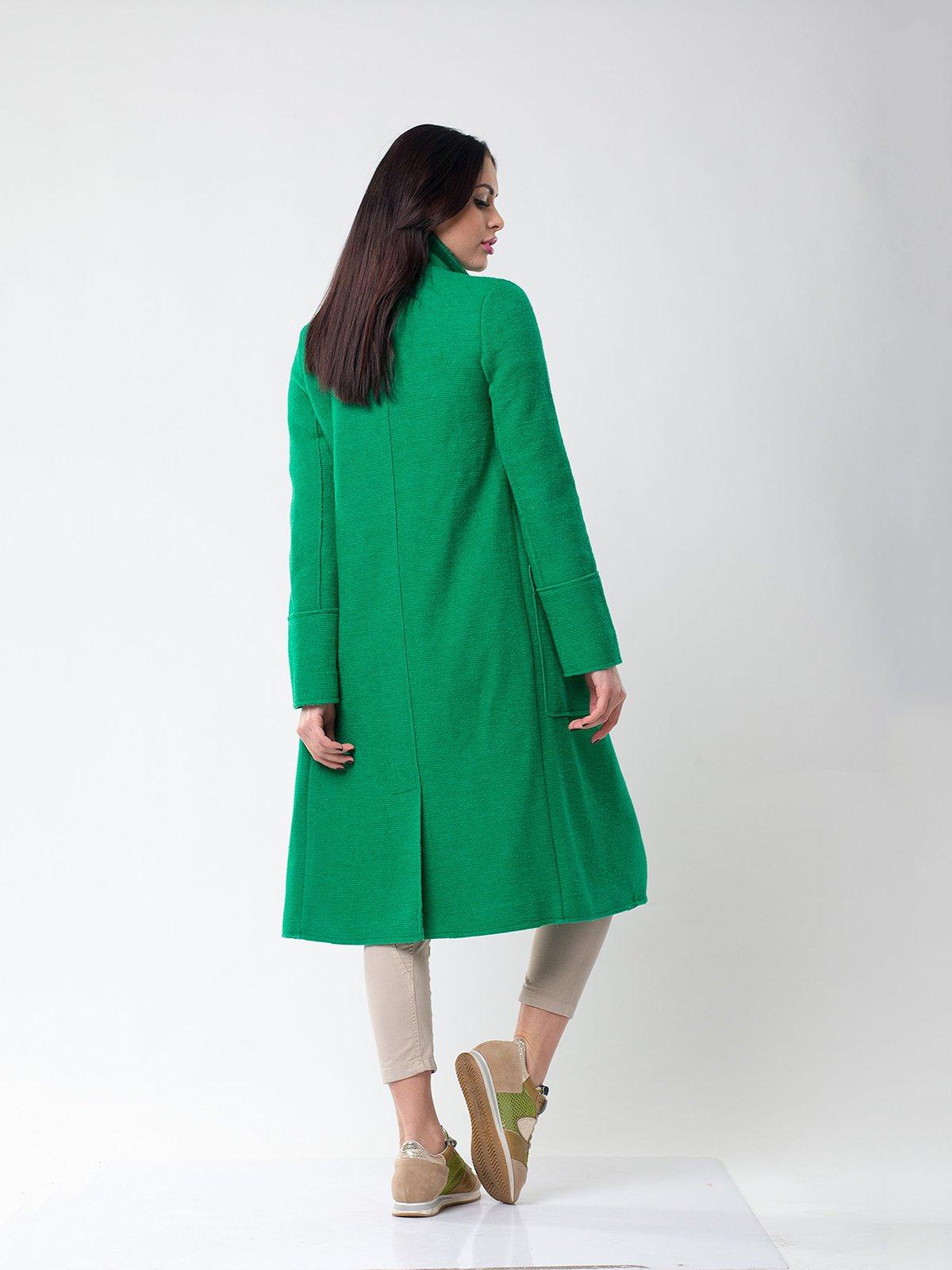 Пальто зеленое | 1962159 | фото 4