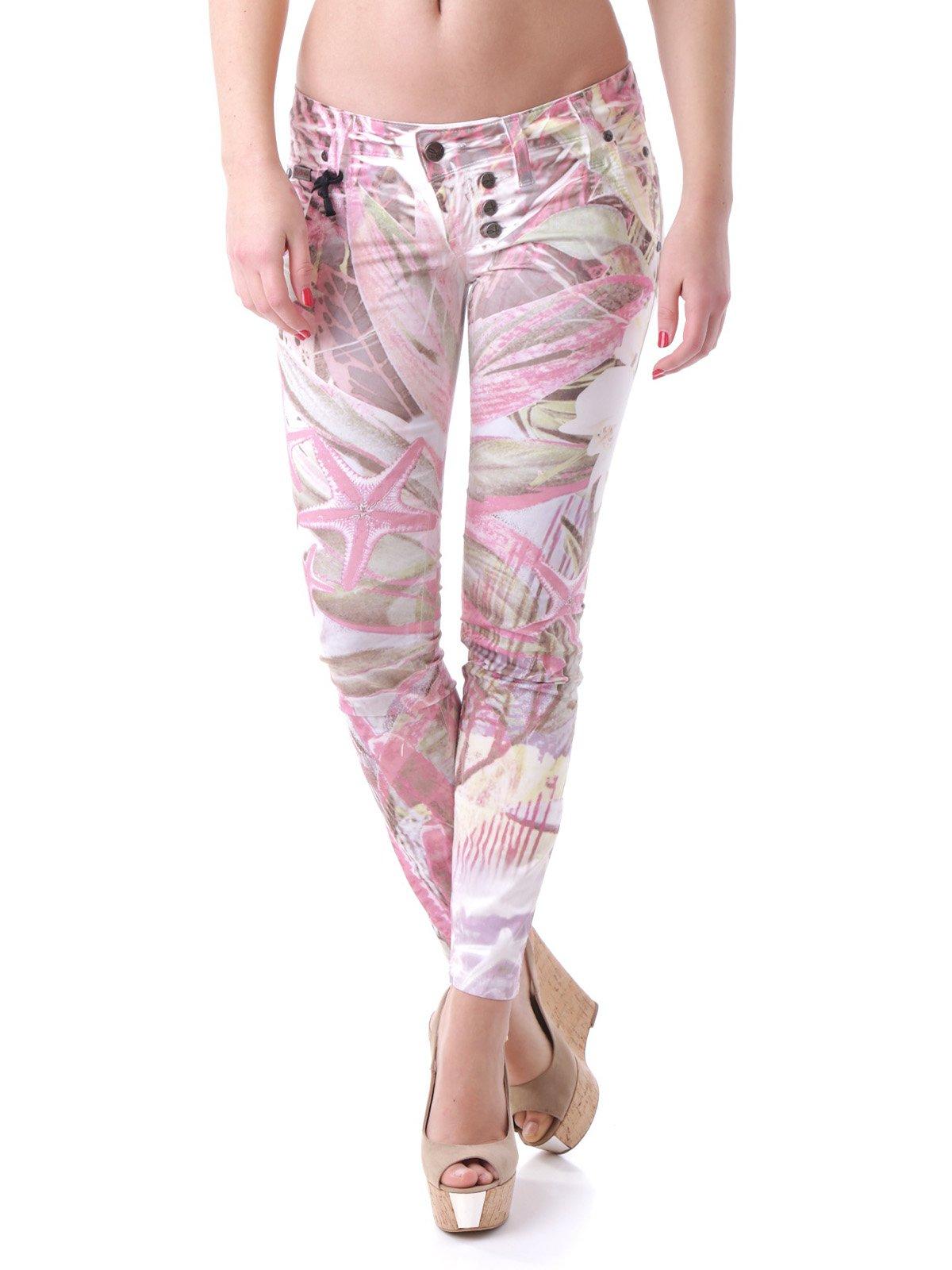 Штани біло-рожеві в принт | 2095775