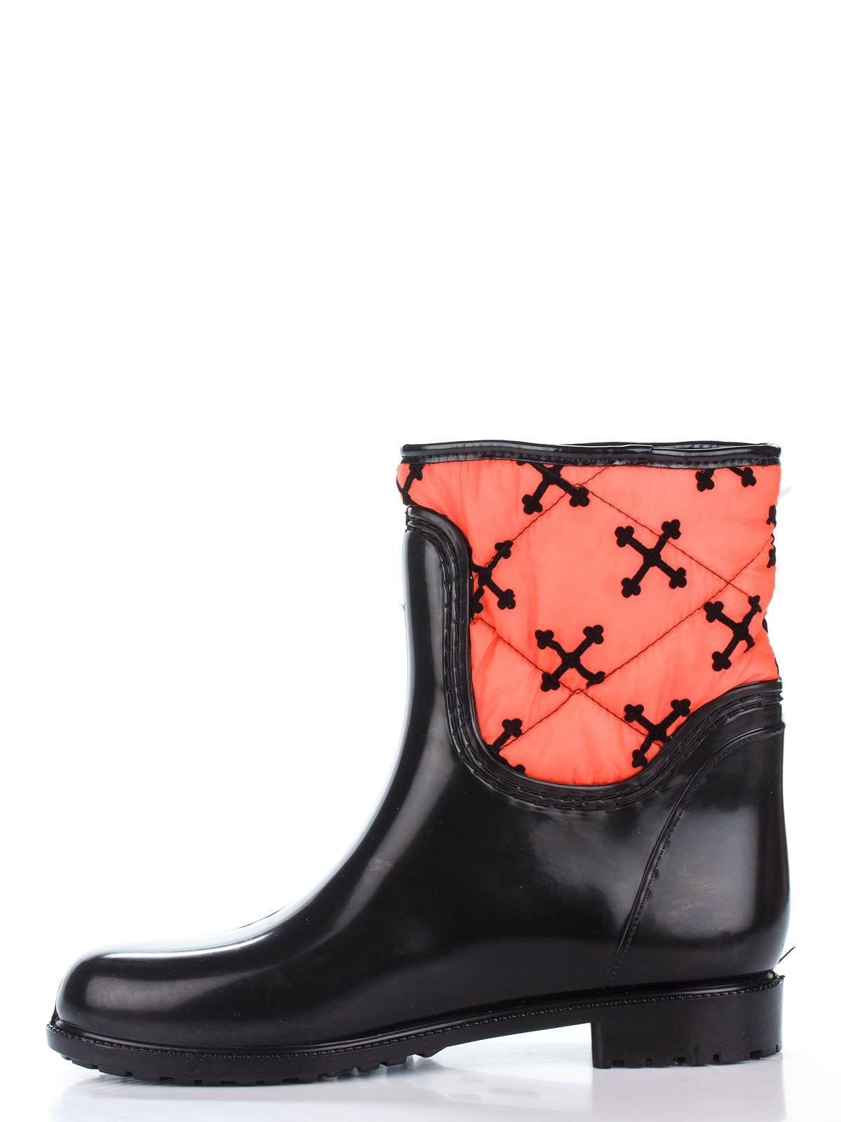 Сапоги черно-оранжевые | 2096734 | фото 2