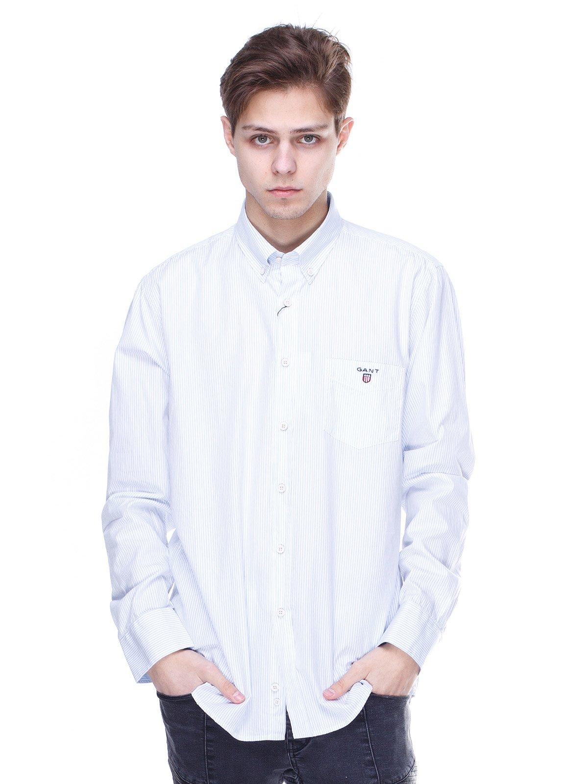 Сорочка двоколірна в смужку | 2098941