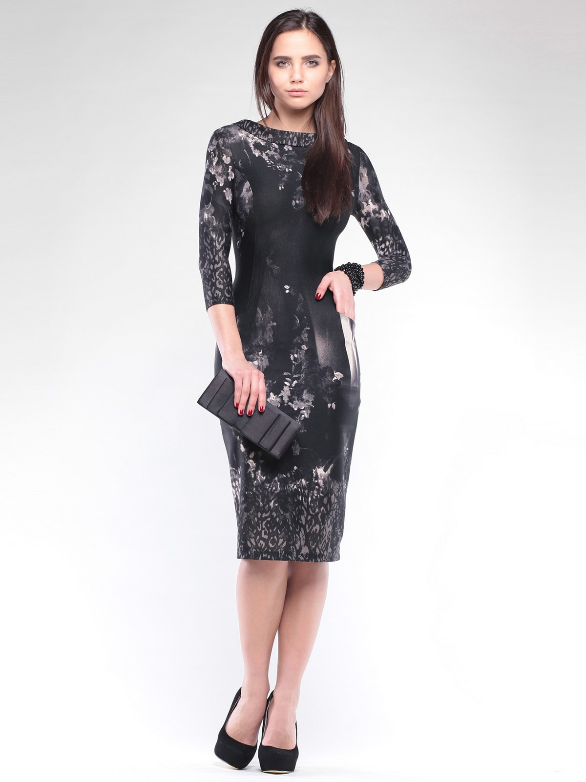 Сукня чорна в принт   2097941