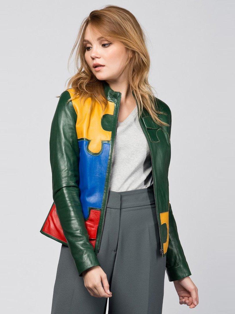 Куртка зеленая с аппликациями | 2116614