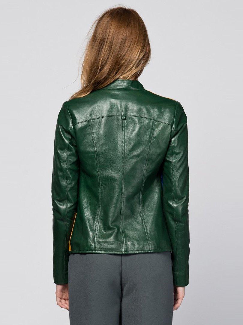 Куртка зеленая с аппликациями | 2116614 | фото 3