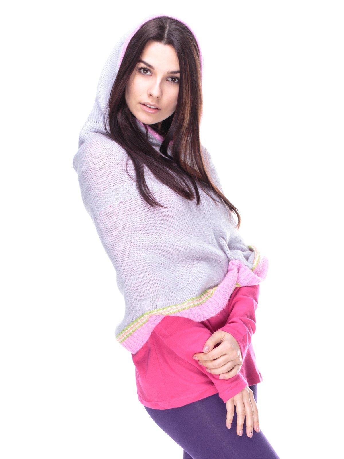 Пончо сіро-рожеве | 2109056