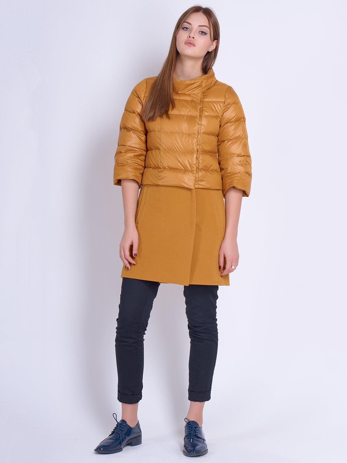 Куртка-пальто гірчичного кольору | 2107007